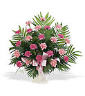 Basket with Pink Carnations