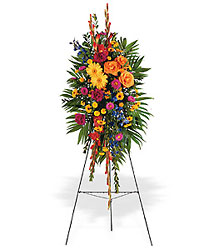 Celebration of Life Standing Spray from Krupp Florist, your local Belleville flower shop