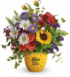 Teleflora Bee Well Soon tev15-1 from Krupp Florist, your local Belleville flower shop