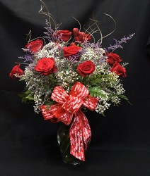 Krupp Outstanding Dozen Roses-val17-6 from Krupp Florist, your local Belleville flower shop