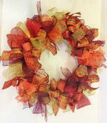 Wreath-all ribbon-wreath-31 from Krupp Florist, your local Belleville flower shop